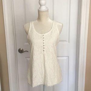 H&M cream lace tank top, Size M